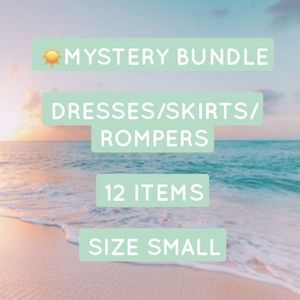 MYSTERY BUNDLE 12 DRESSES/SKIRTS/ROMPERS SMALL❤️
